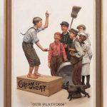 Leslie Thrasher (N.Y. 1889-1936), original Cream Of Wheat Illustration. Oil on canvas