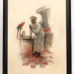 Edward Vincent Brewer (MN./N.Y. 1883-1971), original Cream Of Wheat illustration. Oil on canvas
