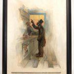 "Edward Vincent Brewer (MN./N.Y. 1883-1971), ""NO SAMILAR DON'T WAN' NO STUBSTUTE AH WAN CREAM O' WHEAT"". Oil on canvas"