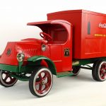 "732. A ""Les Paul"" red and green Mack Coca-Cola truck"