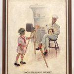 "William Cahill (Cal./N.Y./KS/Ill. 1878-1924), ""LOOK PLEASANT, PLEASE"", original Cream Of Wheat illustration. Oil on canvas"