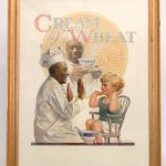 "Edward Vincent Brewer (MN./N.Y. 1883-1971), ""Some Like It Hot"", original Cream Of Wheat illustration. Oil on canvas"