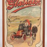 "74. Early framed Gladiator poster ""Gladiator / Cycles / Automobiles"""