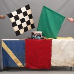98. Famous Indy 500 race car driver and flag man's Nicky Fornoras full set of race flags