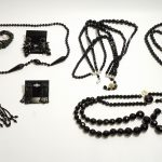 Vintage French Jet Jewelry Lot