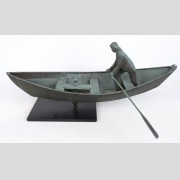 Fisherman In Dory Weathervane