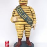 "15. Scarce early ""Bibendum"" Michelin Man Tire advertising figure, 31 ½"" Ht. Ex. DR. Miller Collection."