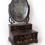 19th c. Japanned dressing mirror