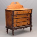 19th c. (4) drawer chest with splashback
