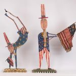 Lot (2) pieces of Jim Lambert patriotic artwork