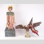 Lot (2) pieces of Jim Lambert folk art
