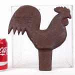C. 1900 cast iron rooster windmill weight
