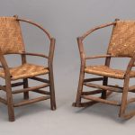 Pair of Old Hickory style Adirondack chairs
