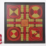C. 1920's polychrome painted game board