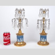 Pair of Wedgwood Jasperware candlesticks
