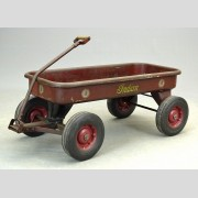 Red Indian Motorcycle Child's Wagon