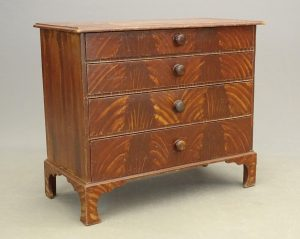 18th c. Paint Decorated Chest Of Drawers