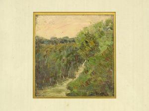 Joseph Henry Sharp (1859-1953), landscape. Oil on board.