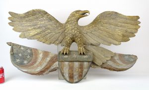 Folk Art Carved Wooden Eagle