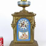 French Sevres bronze clock