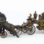 "Early cast iron fire truck., 22"" L., 8 1/2"" Ht.."
