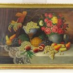 E. Muller, still life, oil on canvas