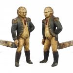 Pair George Washington Andirons