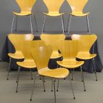 Set of (9) Fritz Hansen / Arne Jacobsen Chairs
