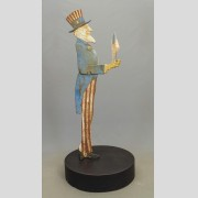 C. 1900-1910 Cast Iron Uncle Sam Mail Box Holder