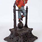 C. 1888 Boy On Trapeze cast iron mechanical bank. J. Barton Smith & Co.