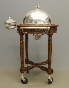 Sheffield Plate Serving Trolley