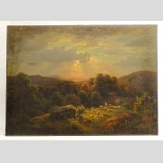 Paul Gottlieb Weber (1823-1916), bucolic landscape, oil on canvas