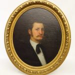 American School, 19th c. oval portrait of a gentleman. Oil on canvas