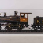 "Rare 4"" guage ""4-4-0"" working steam locomotive and tender"