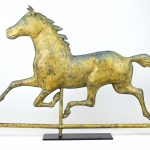 Full bodied horse weathervane