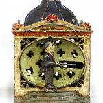 "Early cast iron mechanical bank ""HALL'S LILLIPUT"". J. & E. Stevens"