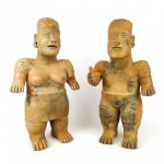 Pair of Ethnic pottery figures