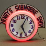 Vintage advertising neon clock sign