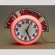 Vintage Advertising Neon Clock Sign