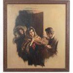 Arthur Sarnoff (1912-2000), original illustration, oil on canvas.