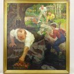 "Harry T. Fisk (N.Y. 1887-1974), ""Fishing Trip"", illustration, oil on canvas"