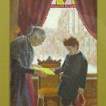 John Falter (1910-1982), illustration of woman and child