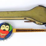 Early 20th Century minstrel banjo with case