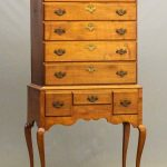 18th c. Western Mass. Queen Anne maple flat top highboy