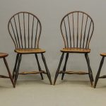 Set of (4) 18th c. bowback Windsor chairs