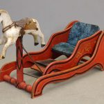 Scarce form 19th c. child's hobby horse in original paint