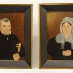 Pair of 19th c. Ancestral Portraits, Ex Rizzo Collection
