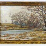 Jonas Lie (New York / Norway 1880-1940), landscape, oil on panel