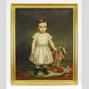 Oil on canvas Portrait of Child attributed to Erastus Salisbury Field
