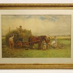 Alfred Fitzwater Grace (United Kingdom 1844-1903), farming subject. Signed and dated 1880 LRC.